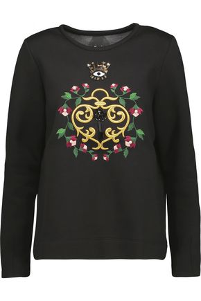 MOTHER OF PEARL Edith embellished cotton and modal-blend sweatshirt