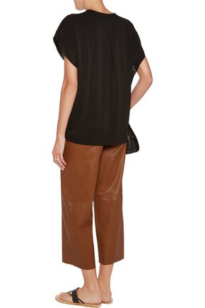 BY MALENE BIRGER Verzalio stretch-crepe top