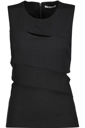 T by ALEXANDER WANG Cutout stretch-ponte top