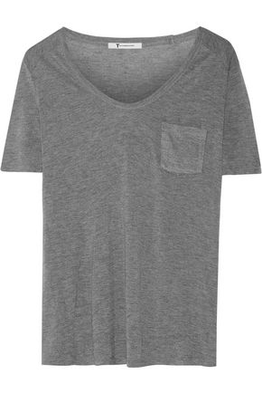 T by ALEXANDER WANG Marled stretch-knit T-shirt