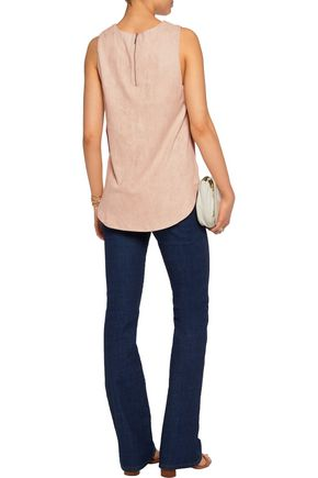 TART COLLECTIONS Sidra split-side faux stretch-suede top