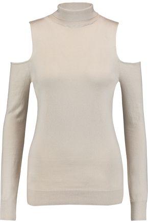 TART COLLECTIONS Muriel cold-shoulder cotton and cashmere-blend turtleneck top