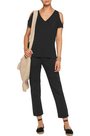 TART COLLECTIONS Rocky cold-shoulder stretch-modal top