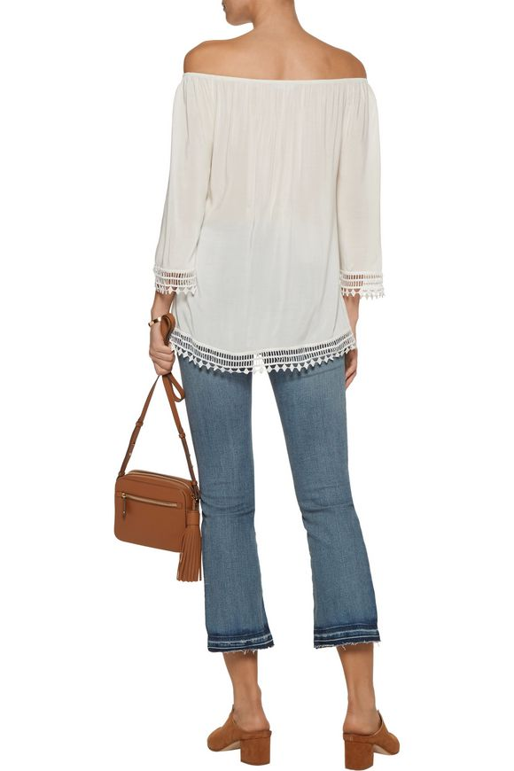 Lilibeth off-the-shoulder lace-trimmed voile top | TART COLLECTIONS | Sale  up to 70% off | THE OUTNET