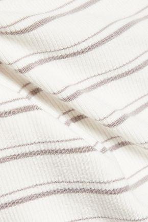 TART Eira off-the-shoulder striped jersey top