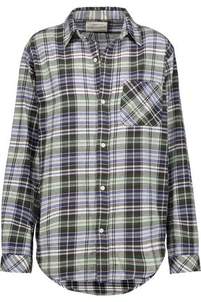 CURRENT/ELLIOTT The Prep School plaid cotton-flannel shirt
