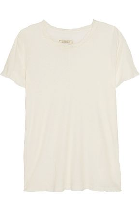 CURRENT/ELLIOTT The Twisted linen and cotton-blend T-shirt