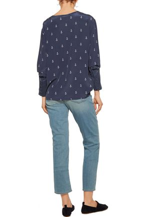 EQUIPMENT Liam printed washed-silk top