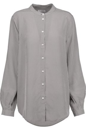 EQUIPMENT Henri striped washed-silk shirt