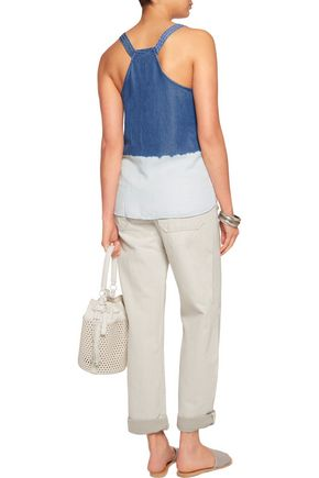 SPLENDID Two-tone Tencel top