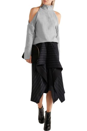 TIBI Cutout wool turtleneck top