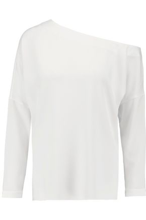 TIBI One-shoulder crepe top