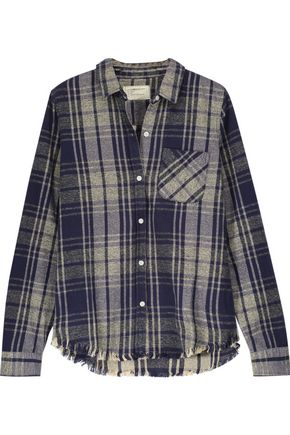 CURRENT/ELLIOTT The Slim Boy plaid cotton-flannel shirt