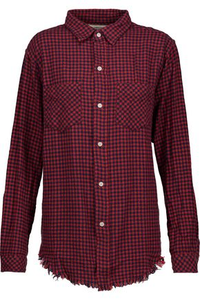 CURRENT/ELLIOTT The Two Pocket checked cotton shirt