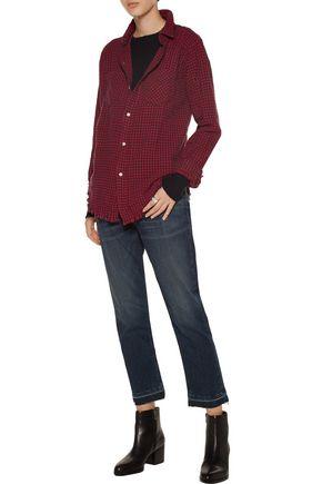 CURRENT/ELLIOTT Checked cotton shirt