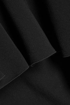 ANTONIO BERARDI Cutout ruffled crepe blouse