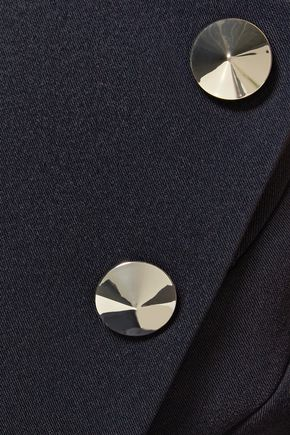 ANTONIO BERARDI One-shoulder stud-embellished crepe top