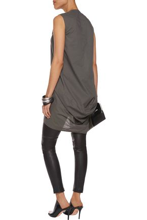RICK OWENS Kite draped cotton-voile tunic