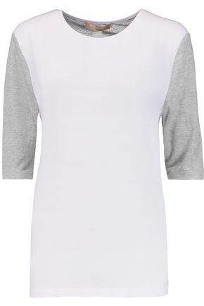 MICHAEL KORS COLLECTION Crepe and jersey T-shirt