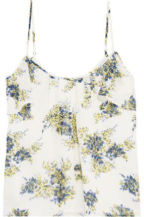 JOIE Adorlee cold-shoulder floral-print silk-georgette top