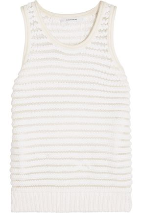 CARVEN Knitted cotton-blend vest