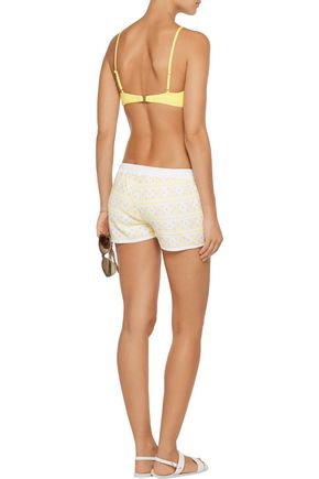 MELISSA ODABASH Carolina embroidered cotton shorts