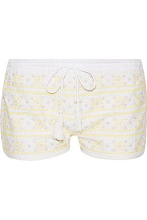 MELISSA ODABASH Carolina embroidered cotton shorts