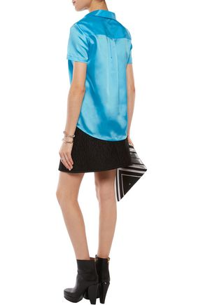 MARC BY MARC JACOBS Satin-twill top