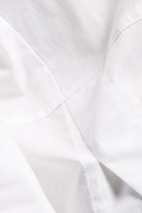 VINCE. Cutout cotton-blend poplin blouse