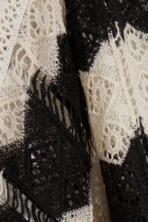 MELISSA ODABASH Skye fringed open-knit kaftan
