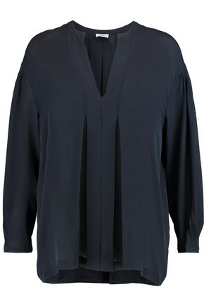 VINCE. Pleated silk blouse