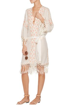 MELISSA ODABASH Nic embroidered voile robe