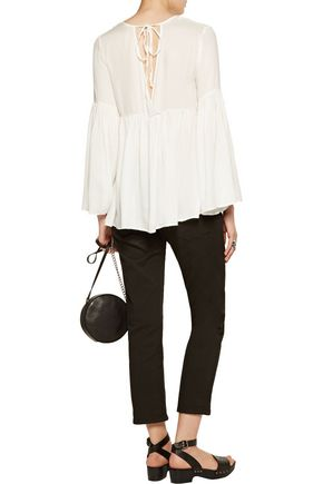 W118 by WALTER BAKER Sophie ruffled crepe blouse