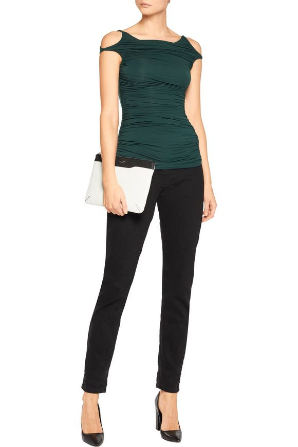 Charming off-the-shoulder ruched jersey top   BAILEY 44   Sale up to 70% off    THE OUTNET