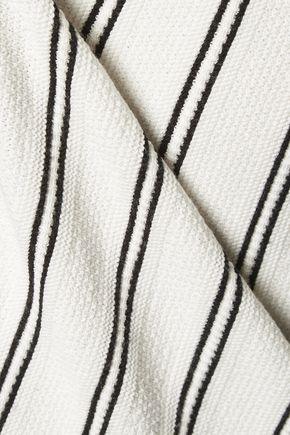 THEORY Haydren striped stretch-knit sweater