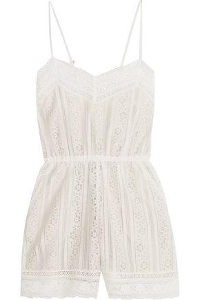 GOEN.J Cotton-blend lace playsuit