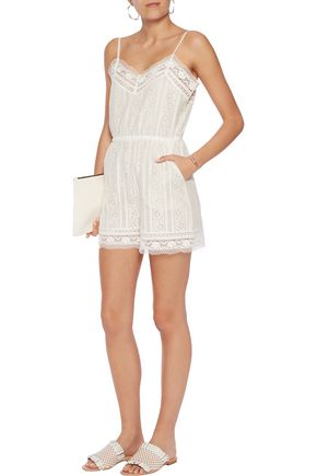 GOEN.J Cotton-blend lace playsuit
