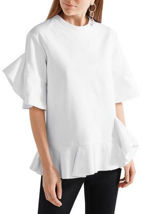 GOEN.J Ruffled cotton-jersey top