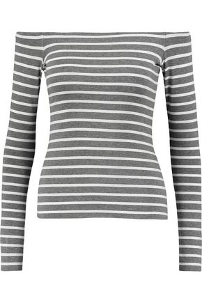 BAILEY 44 Jacqueline off-the-shoulder striped jersey top