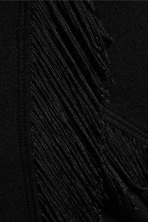 SPLENDID Fringed cotton and modal-blend T-shirt