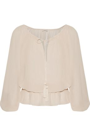 TALITHA Gia tasseled silk-georgette blouse