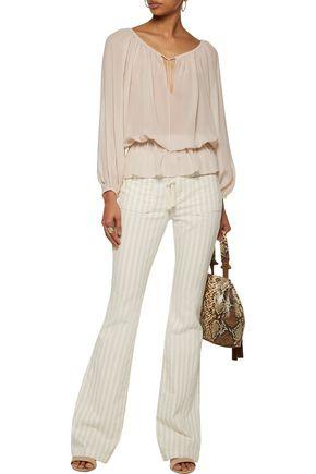 TALITHA Gia tasseled silk-georgette blouse