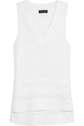 RAG & BONE Dina open-knit cotton-blend tank