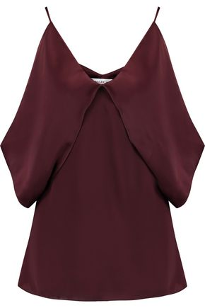 BAILEY 44 Layered satin and crepe de chine top