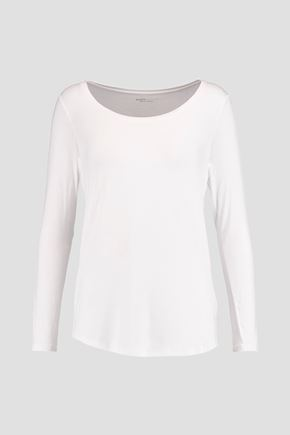 MAJESTIC Oversized stretch-jersey top