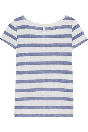 MAJESTIC Striped linen T-shirt