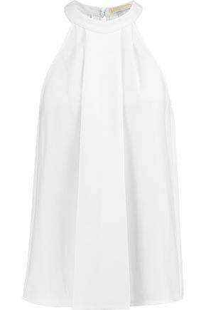 MICHAEL MICHAEL KORS Pleated crepe top