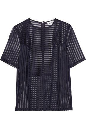 DKNY Striped open-knit top