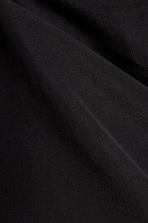 JOSEPH Cotton-jersey and silk top