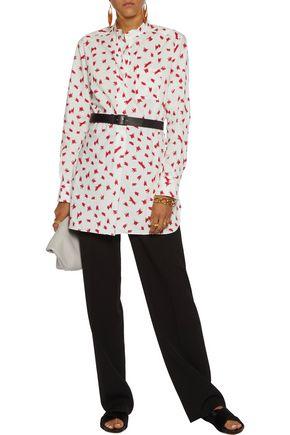 MARNI Printed cotton-poplin shirt